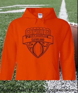 Cleveland - Orange Hoodie with Maroon Design Zoom