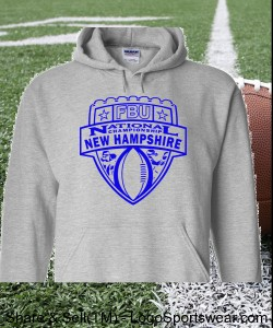 New Hampshire - Sport Grey Hoodie with Purple Design Zoom