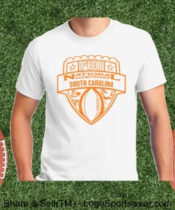 South Carolina - White Tee with Orange Design Zoom