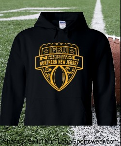 Northern New Jersey - Black Hoodie with Gold Design Zoom