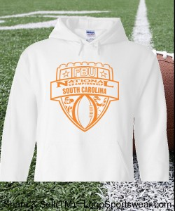 South Carolina - White Hoodie with Orange Design Zoom