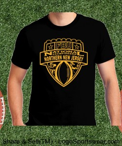Northern New Jersey - Black Tee with Gold Design Zoom