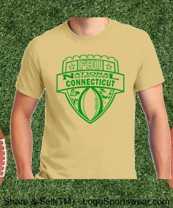 Connecticut - Vegas Gold Tee with Kelly Green Design Zoom