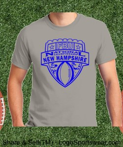New Hampshire - Ice Grey Tee with Purple Design Zoom