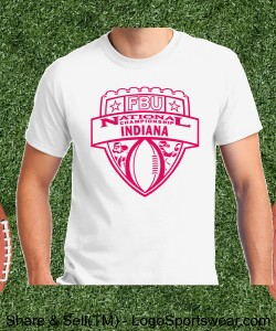 Indiana - White Tee with Scarlet Design Zoom